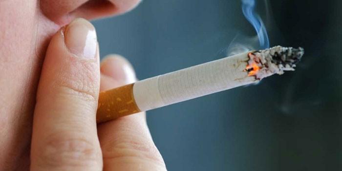 Давление сигареты